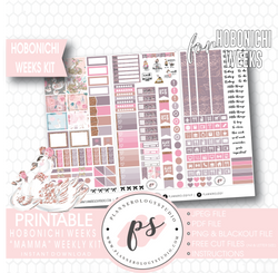 Mamma (Mother's Day) Weekly Kit Printable Digital Planner Stickers (for use with Hobonichi Weeks)