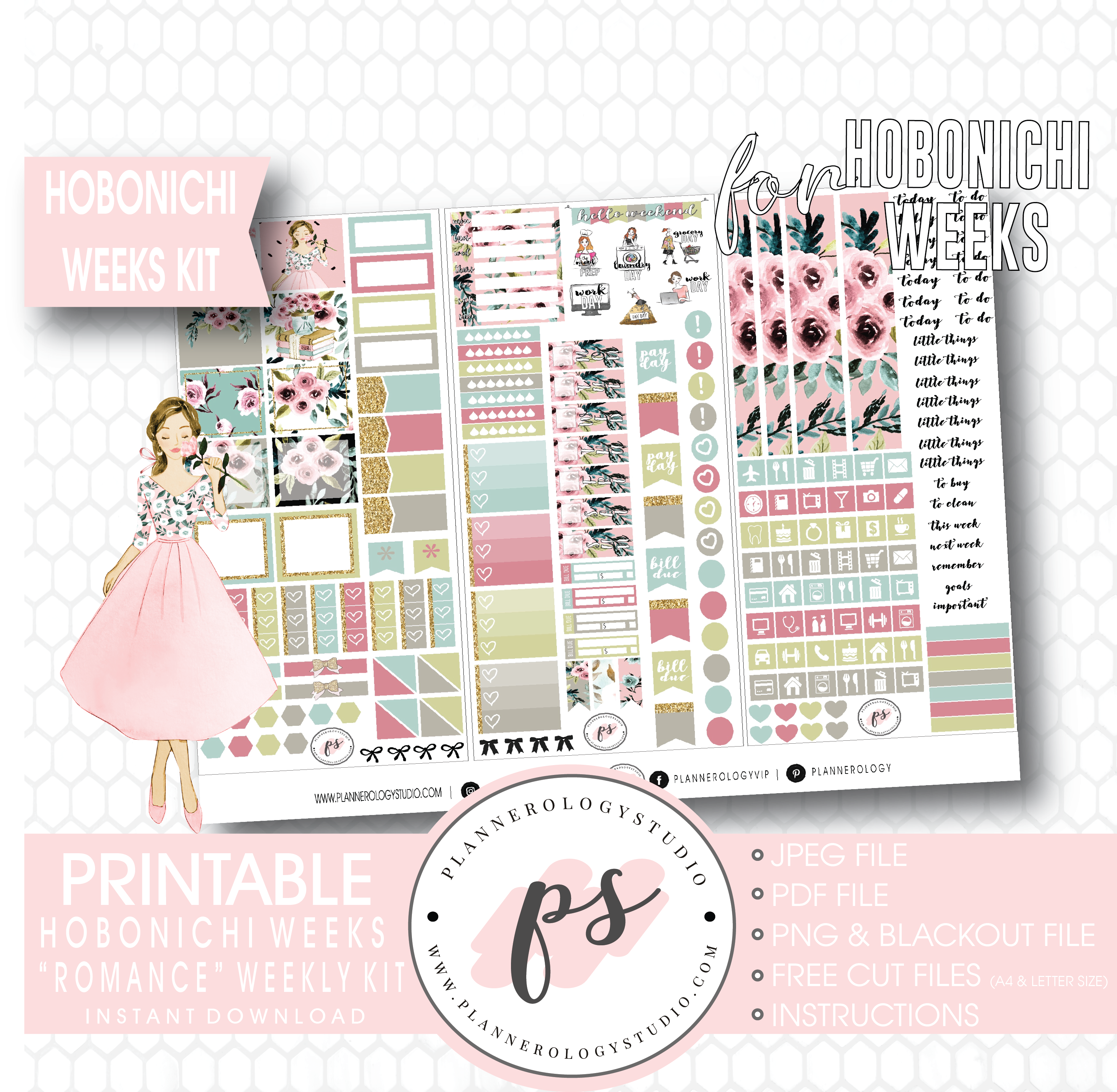 photo relating to Free Digital Planner Pdf known as Connection Weekly Package Printable Electronic Planner Stickers (for