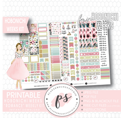 Romance Weekly Kit Printable Digital Planner Stickers (for use with Hobonichi Weeks) - Plannerologystudio