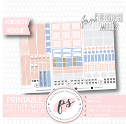 Hobonichi Weeks Functional & Basics Digital Printable Planner Stickers Kit - Plannerologystudio