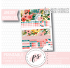 Summer Blooms June 2019 Monthly View Kit Digital Printable Planner Stickers (for use with Erin Condren) - Plannerologystudio