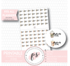 Starbucks Run Icons Digital Printable Planner Stickers - Plannerologystudio