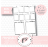 Meals Full Boxes Bullet Journal Bujo Digital Printable Planner Stickers (Foil Ready) - Plannerologystudio
