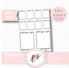 Shopping Full Boxes Bullet Journal Bujo Digital Printable Planner Stickers (Foil Ready) - Plannerologystudio