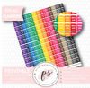 Rainbow Annual Leave Flags Printable Planner Stickers - Plannerologystudio