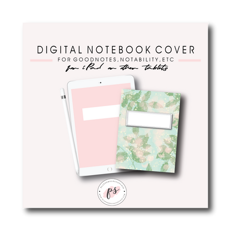 Digital Planner Notebook Cover for iPad/Tablet and GoodNotes/Notabilty/etc (Freebie) - Plannerologystudio
