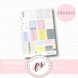 September 2017 Mini Kit Printable Planner Stickers (PDF/JPG/PNG Freebie) - Plannerologystudio