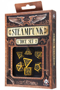 Set Dadi Steampunk - Giallo, Nero