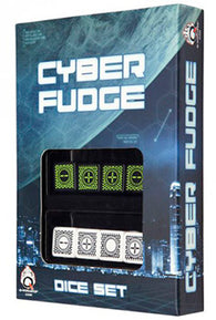 Set Dadi Fudge Cyber - Nero, Verde
