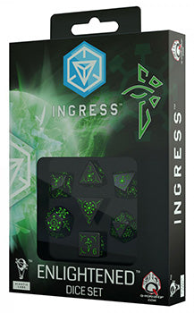 Set Dadi Ingress Enlightened - Nero/Verde (7)