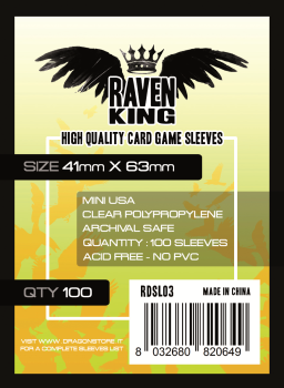 Raven King - Bustine Protettive 41x63mm (100) - Mini USA
