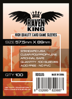 Raven King - Bustine Protettive 57,5x89mm (100) - Standard USA