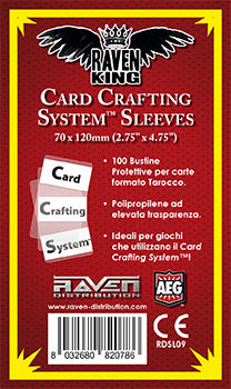 Raven King - Bustine Protettive 70x120mm (100) Card Crafting System