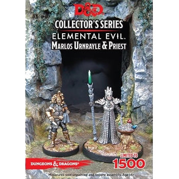 D&D 5a Edizione Miniature - Collector's Series - Elemental Evil: Marlos Unrayle & Priest