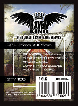 Raven King Sleeves - Bustine Protettive 75x105 (100) Reykholt