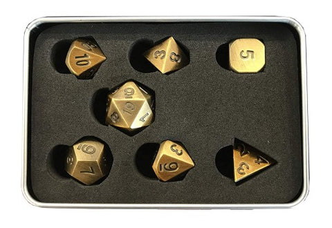 Godplayer - Set Dadi in Metallo - Antique Bronze