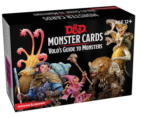 D&D 5th Edition - Monster Cards: Volo' s Guide To Monsters