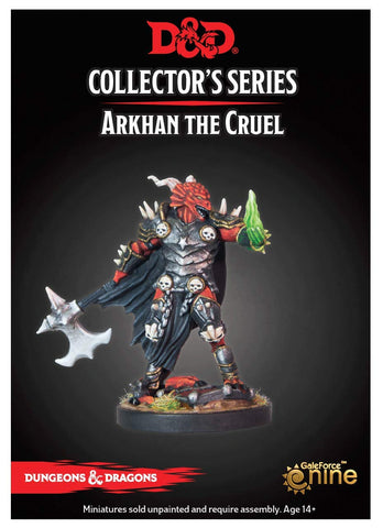 D&D Miniature Collector's Series - Arkhan the Cruel Dragonborn New Sculpt with Necro Hand