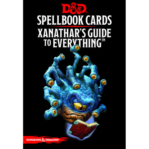 D&D 5th Edition - Xanathar's Guide to Everything Spellbook Cards ENG