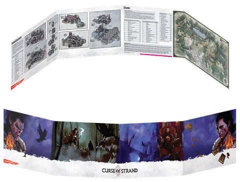 D&D 5th Edition - Curse of Strahd DM Screen (Schermo del GM)