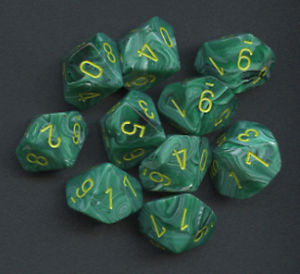 Set 10D10 Vortex - Verde Malachite/Giallo - CHX27255