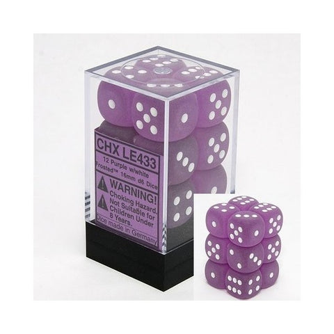 Set 12D6 Frosted - Viola/Bianco - CHXLE433