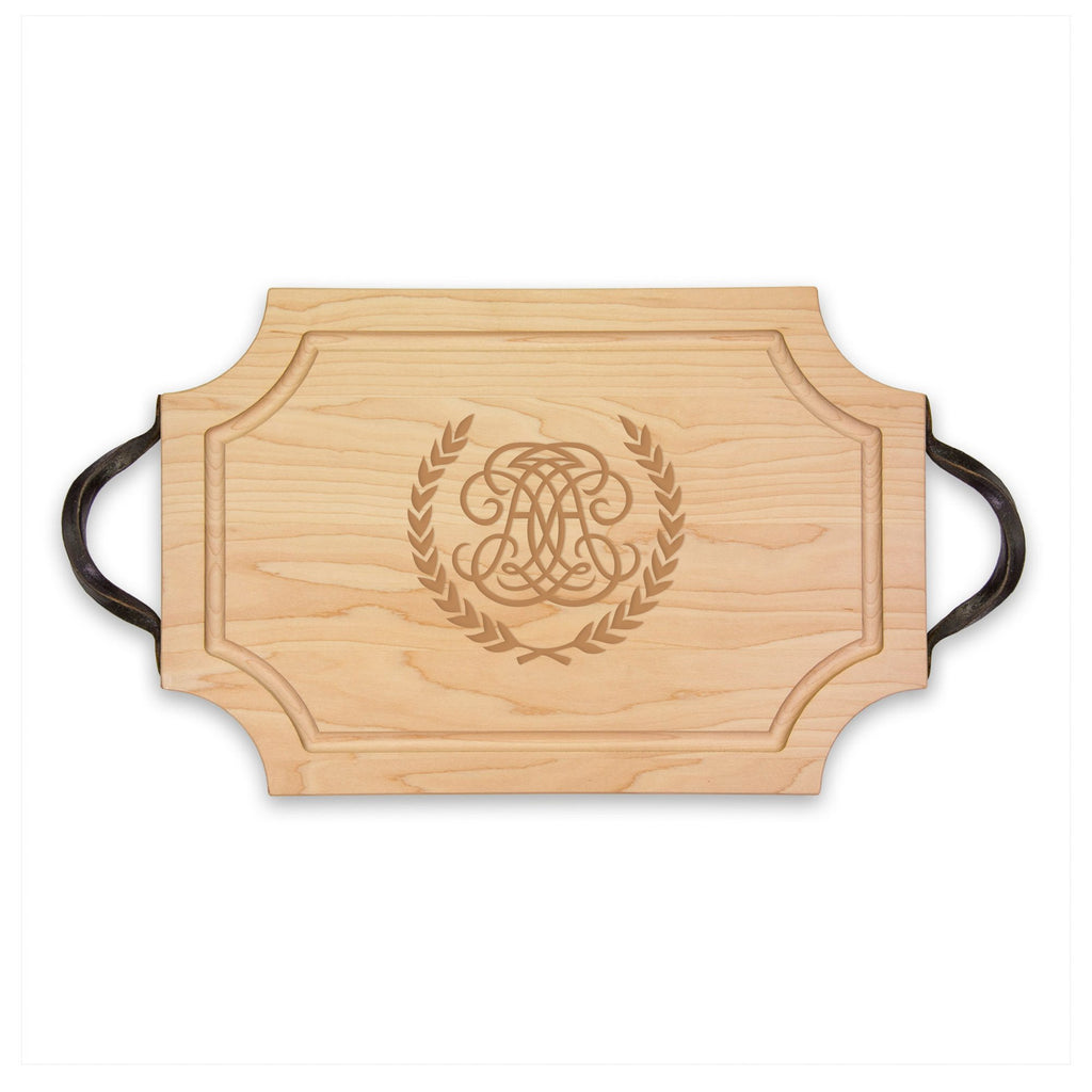 Monogrammed Cutting Board Scalloped - 18""