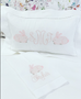 Fine White Linen Boudoir Pillow With Monogram