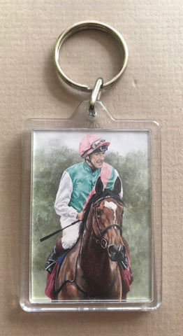Enable and Frankie Dettori Keyring