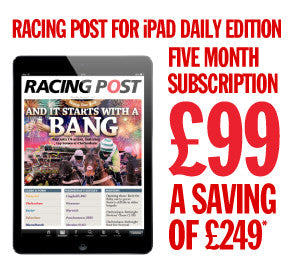 Racing Post iPad daily Edition - 5 months special subscription