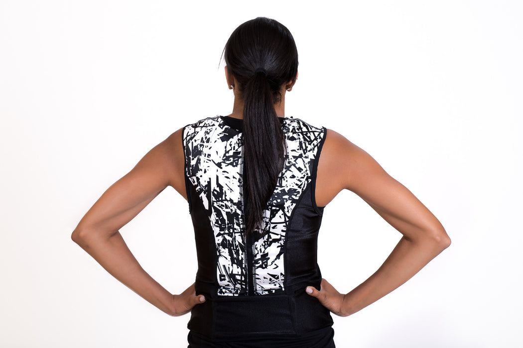 WEIGHT VEST - WHITE ART (4 lbs of Weight Thins included)