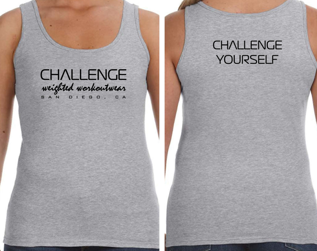 CWW TANK TOPS - GREY (Front/Back)