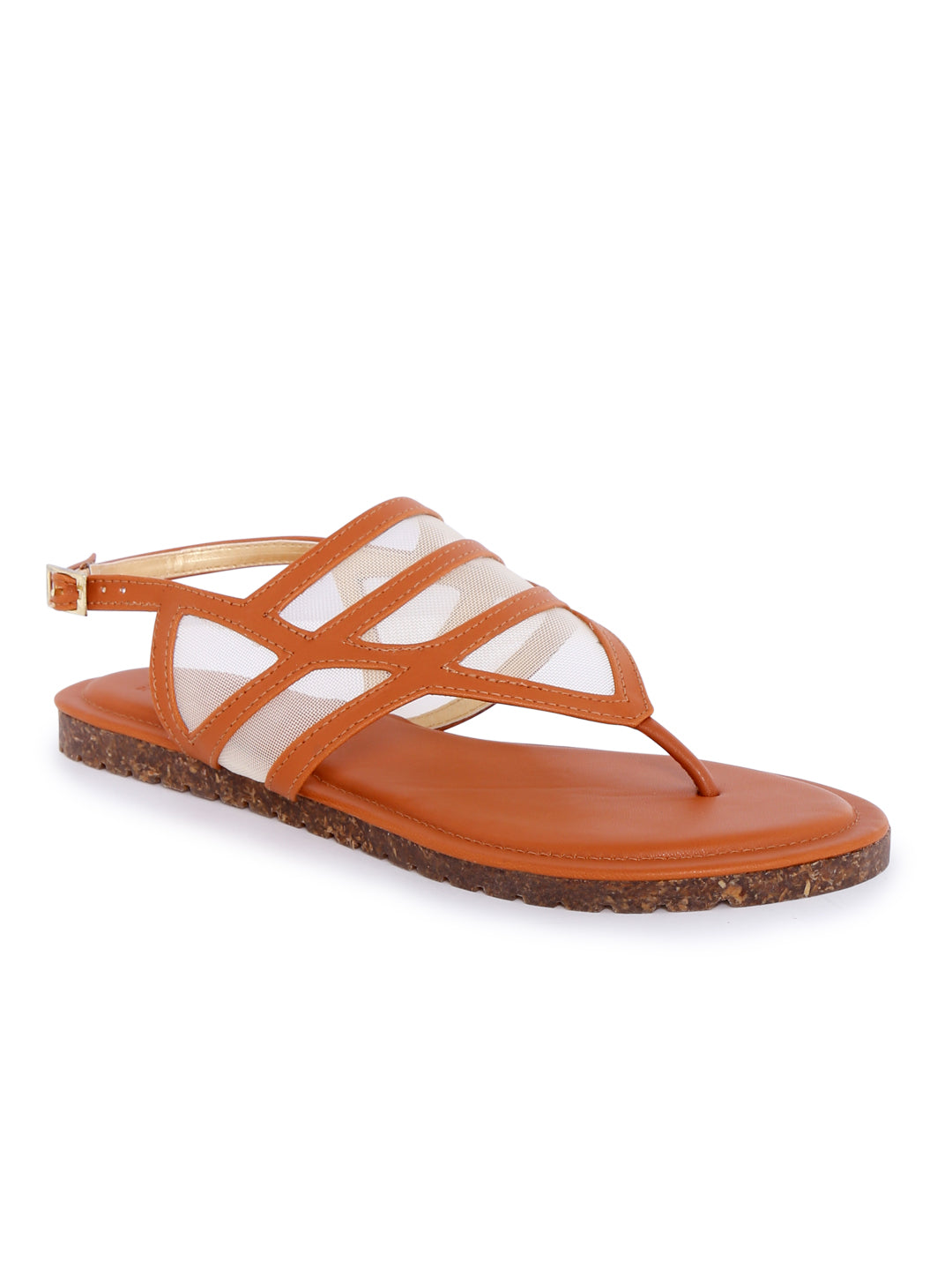 Tan Back Strap Casual Sandals
