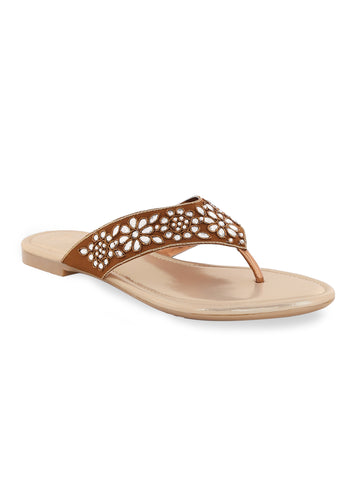Antic Zardosi Flat Slip On's