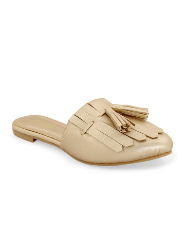 Gold Tasseled Slip-on