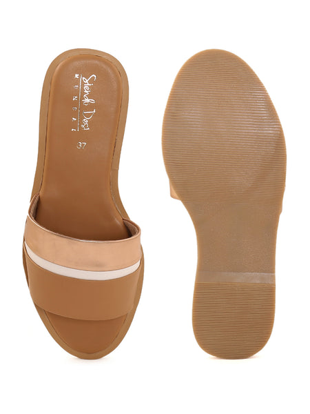 Rose Gold Closed Flat Slip On