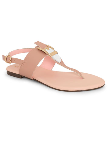 Back Strapped Pink Sandal