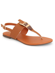 Back Strapped Tan Sandal