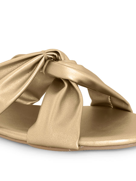 V-Strap Slip-on for Women - Gold