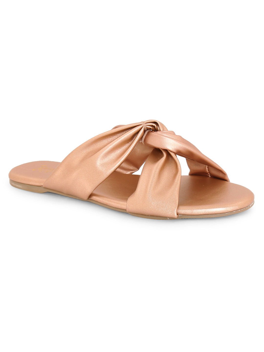 V-Strap Slip-on for Women - Rose Gold