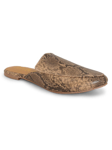 Slip-On Closure Flats For Women's - Beige