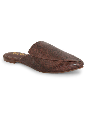 Slip-On Closure Flats For Women's - Brown