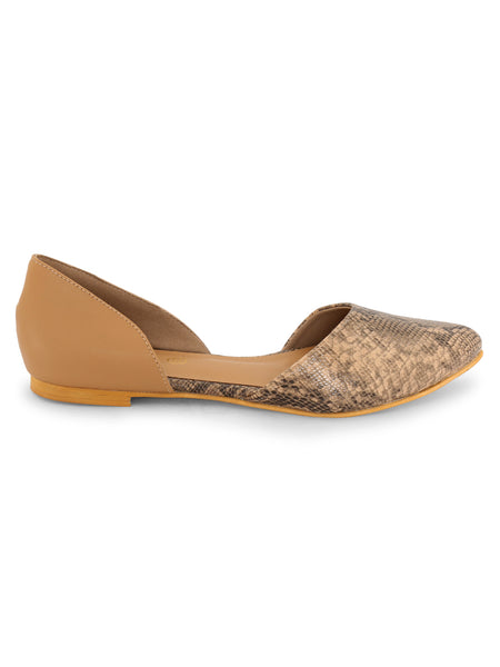 Beige Snake Pattern Slip-on