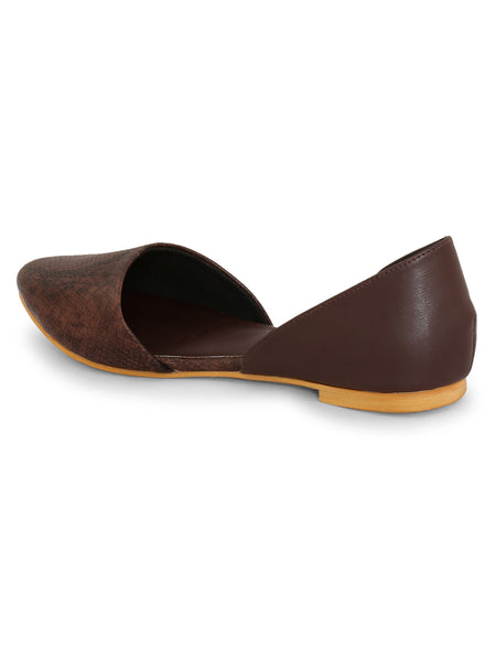 Brown Snake Pattern Slip-on
