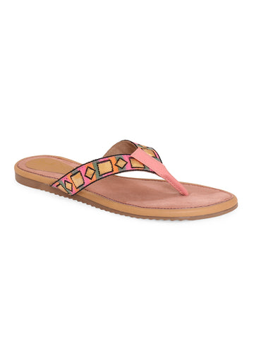 Siendo Desi Women Pink Solid Slip-on