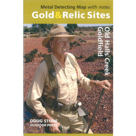 WA - Gold & Relic Sites - Metal Detecting Map - Region: Old Halls Creek Goldfield for Prospecting by Doug Stone
