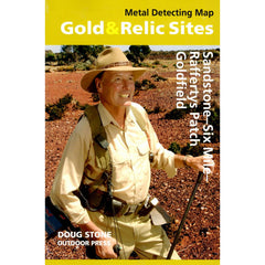 WA - Gold & Relic Sites - Metal Detecting Map - Region: Sandstone-Six Mile-Reffertys Patch for Prospecting by Doug Stone