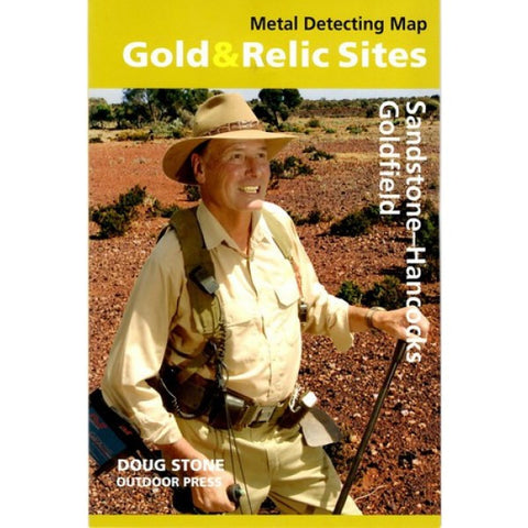 WA - Gold & Relic Sites - Metal Detecting Map - Region: Sandstone-Hancock For Prospecting by Doug Stone