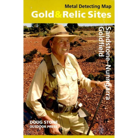 WA - Gold & Relic Sites - Metal Detecting Map - Region: Sandstone-Nunngarra For Prospecting by Doug Stone