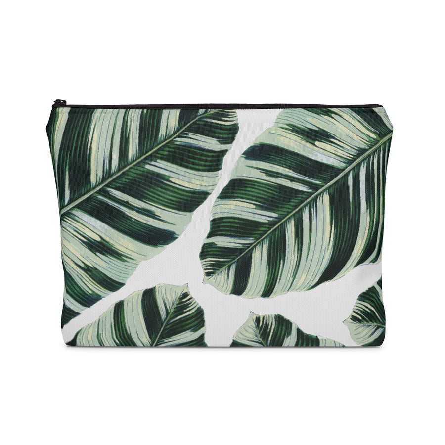 Palm Leaf Carry All Pouch - Design Prints